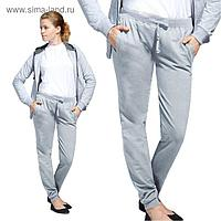 Брюки женские, размер 44, цвет серый меланж