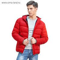 Куртка мужская, размер 46, цвет красный