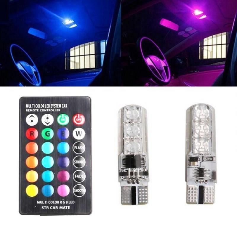 Светодиодные лампочки RGB T-10
