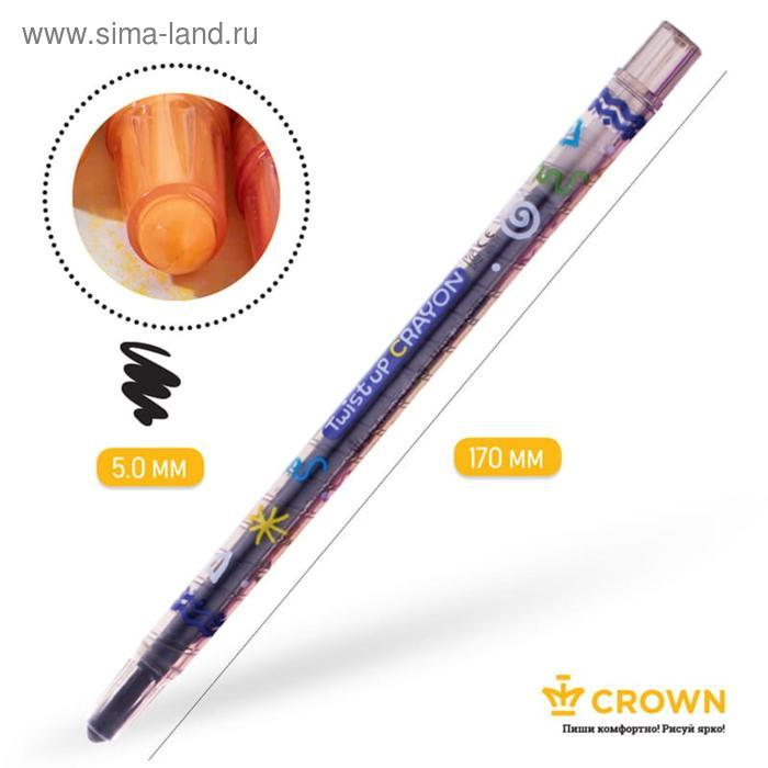 """Мелки восковые выкручивающийся 20цв Crown """"ArtStory"""" ПВХ, европодвес TP-2000 - фото 3"""