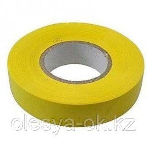 Изолента ПВХ, 15мм х 10м, желтая. СИБРТЕХ Россия, фото 2