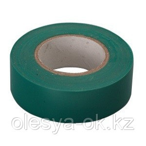 Изолента ПВХ, 15мм х 10м, зеленая. СИБРТЕХ Россия, фото 2
