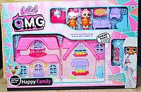 Упаковка помята!! KX 529Z-1 ЛОЛ домик с мебелью,2куклы+1 капсула сюрприз, 53*36см, фото 1