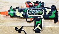 252 Пистолет пулемет (муз,свет,движение картинка) 35*20см, фото 1