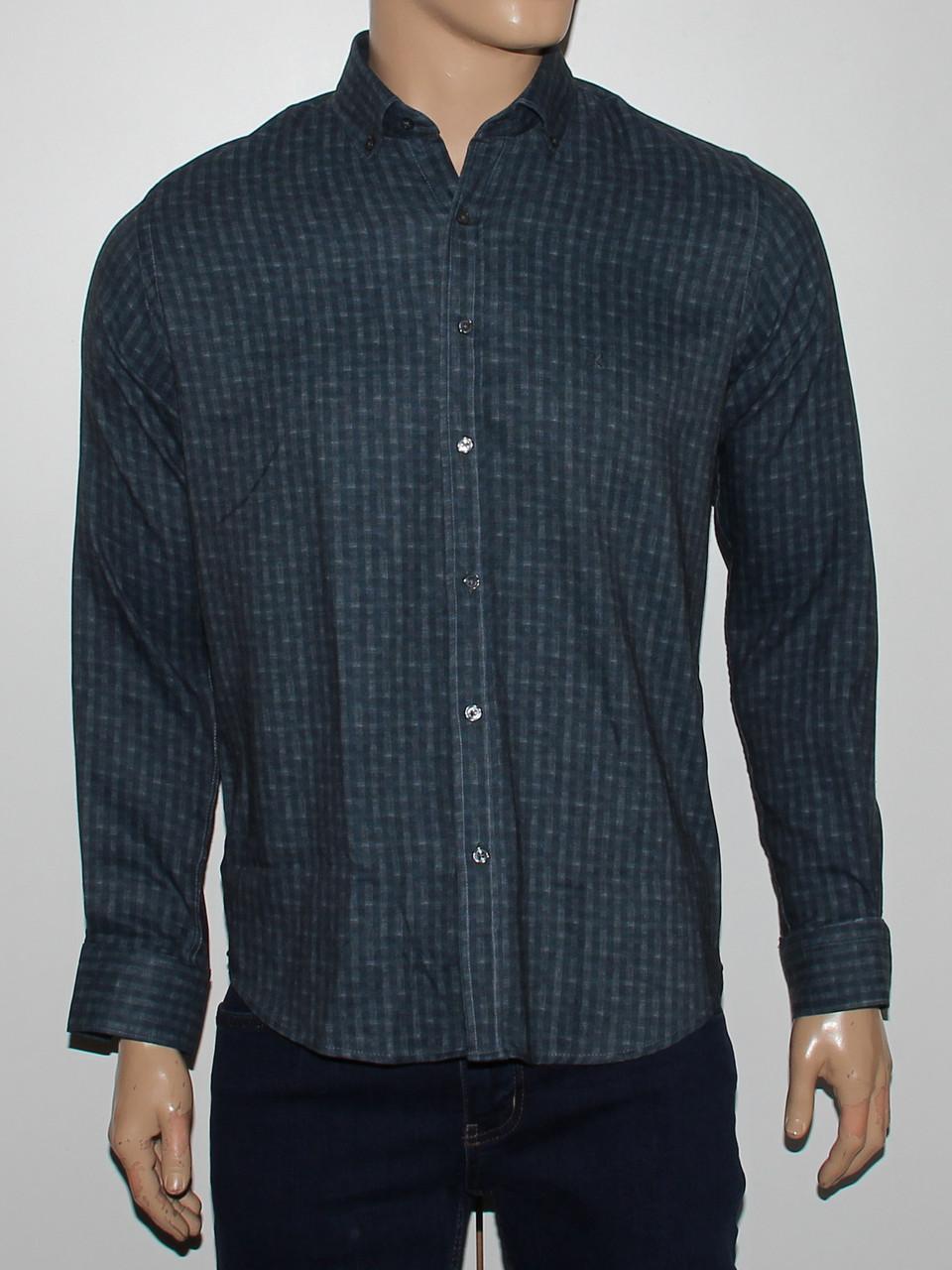 Рубашка приталенная Cardozo серая - фото 1
