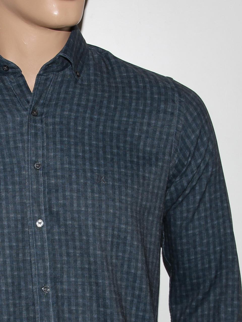 Рубашка приталенная Cardozo серая - фото 2