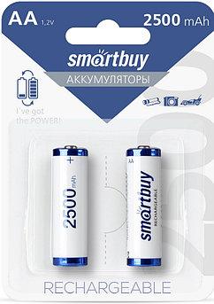 Аккумулятор NiMh Smartbuy AA-2BL 2500 mAh HR6-2BL