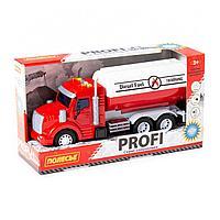 Профи автомобиль с цистерной инерционный со светом и звуком красный в коробке