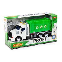 Профи автомобиль коммунальный инерционный со светом и звуком зелёный в коробке