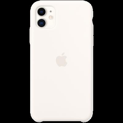 Силиконовый чехол для IPhone 11 Silicone Case - White - фото 1