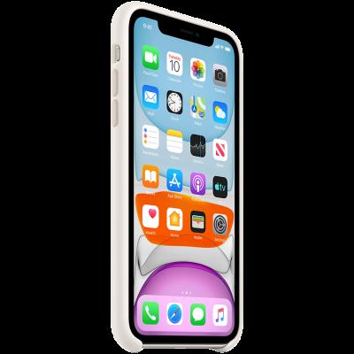 Силиконовый чехол для IPhone 11 Silicone Case - White - фото 2