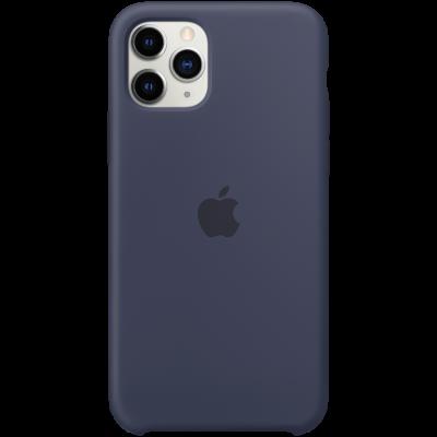 Силиконовый чехол для IPhone 11 Pro Silicone Case - Midnight Blue - фото 1
