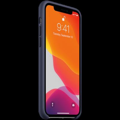 Силиконовый чехол для IPhone 11 Pro Silicone Case - Midnight Blue - фото 2