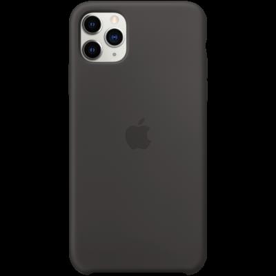 Силиконовый чехол для IPhone 11 Pro Max Silicone Case - Black - фото 1