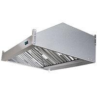 Зонт вытяжной пристенный с жироулавливающим лабиринтным фильтром, электровентилятором и подсветкой ЗВэ-П12/08