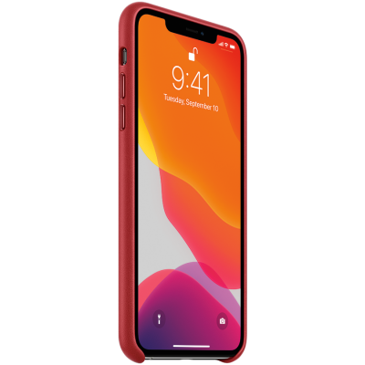 Кожаный чехол для IPhone 11 Pro Max Leather Case - (PRODUCT)RED - фото 1