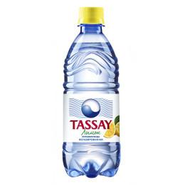 Вода негазированная питьевая Tassay лимон без газа 0,5 л