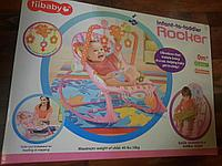 Детский шезлонг-качалка iBaby Цветочки 68112