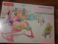 Детский шезлонг-качалка iBaby Розовый Жирафик 68147