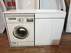 Раковина с тумбой (с корзиной) и столешницей Космос (ЛМДФ) правая 130  см. над стиральной машиной. РФ