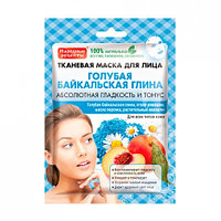 Тканевая маска для лица Голубая Байкальская Глина 25 мл