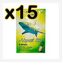 Бокс 15 шт Маска Акулий жир и ананас эластин - коллагеновая 10 мл (биопиллинг и питание)