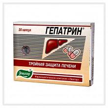 """Капсулы """"Гепатрин"""" для защиты печени, 30 капс х 0, 2г"""