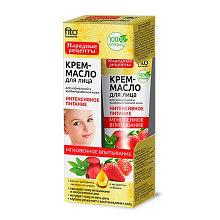 Крем-масло для лица Интенсивное питание с маслом шиповника, овсяным молочком и клубникой 45 мл