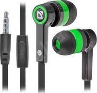 Наушники-вкладыши проводные Defender Pulse 420 черный + зеленый