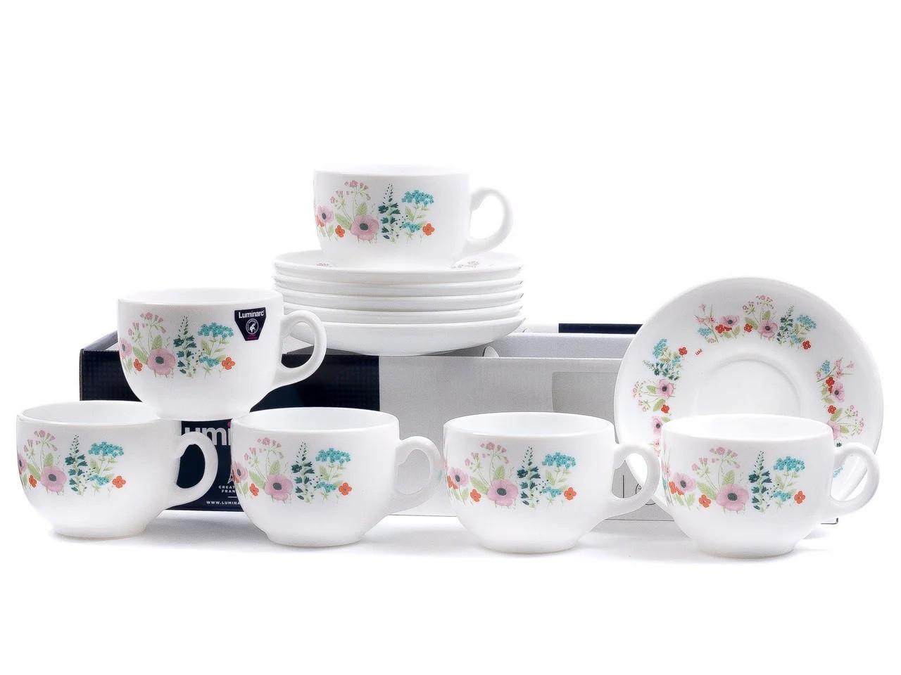 Чайный сервиз Luminarc Rose pompon на 6 персон