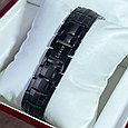 Титановый магнитный браслет Премиум Топ Люксор black, фото 6