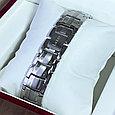 Титановый магнитный браслет Премиум Топ Люксор silver, фото 7
