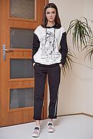Женский осенний трикотажный спортивный большого размера спортивный костюм Fantazia Mod 3528/1 56р.
