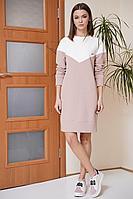 Женское осеннее трикотажное розовое платье Fantazia Mod 3862 розовый 46р.