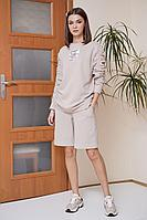 Женский осенний трикотажный розовый спортивный спортивный костюм Fantazia Mod 3876 44р.