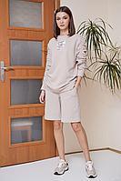 Женский осенний трикотажный розовый спортивный спортивный костюм Fantazia Mod 3876 50р.