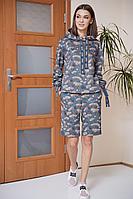 Женский осенний трикотажный голубой спортивный спортивный костюм Fantazia Mod 3861 44р.