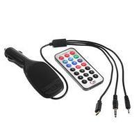 FM - трансмиттер, 12 В, USB/Mp3/WMA/MicroSD, микс