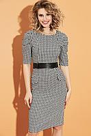 Женское осеннее платье DiLiaFashion 0443 мультиколор 46р.
