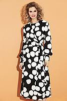 Женское осеннее шифоновое платье DiLiaFashion 0456 круги 52р.