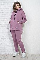 Женские осенние трикотажные фиолетовые брюки Белтрикотаж 4315Б сирень 44р.