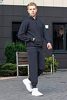 Мужской осенний трикотажный серый спортивный большого размера спортивный костюм GO M3000/30-03 44р.