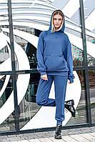 Женский осенний трикотажный синий спортивный спортивный костюм GO F3000/20-01.170-176 42р.