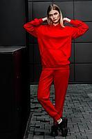 Женский осенний трикотажный красный спортивный спортивный костюм GO F3000/11-02.170-176 42р.