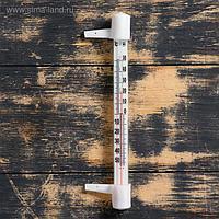 """Термометр наружный (-50°С<Т<+50°С), пластиковая шкала,на """"гвоздике"""", упаковка картон, микс"""