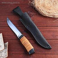 Нож охотничий «Гумбольдт уральский» Н3, ст. ЭИ107, рукоять текстолит, береста 27,5 см