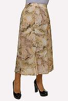 Женская осенняя шифоновая деловая нарядная большого размера юбка Klever 398-3 52р.