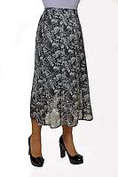 Женская осенняя шифоновая деловая нарядная большого размера юбка Klever 398-1 52р.