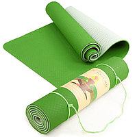 Коврик для йоги зеленый