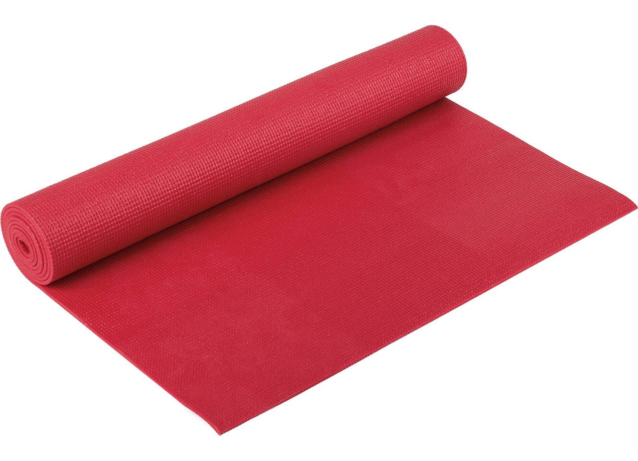 Коврик гимнастический красный